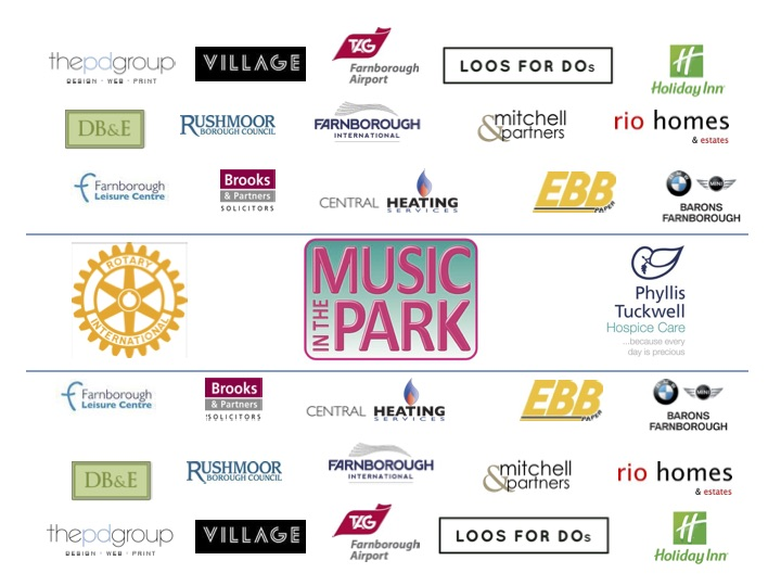 Music In The Park Farnborough Sponsors 2017