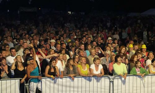 Crowds at night Picnic to music in The Park Farnborough