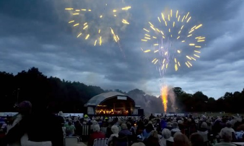 Fireworks display Picnic to music in The Park Farnborough