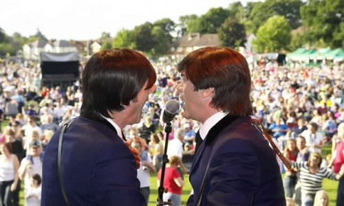 The Beatles Tribute band Picnic to music in The Park Farnborough